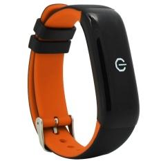 Leegoal Bluetooth Smart Band P1 Heart Rate Tekanan Darah Kebugaran Track Pedometer Sport Gelang Cicret Gelang-Intl