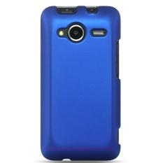 Leegoal Depan dan Belakang Karet Perisai Plastik Keras Case Cover untuk HTC EVO Shift 4g (Biru Tua) -Intl