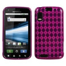Leegoal Diamond Pattern Skin Fit Slim Penutup Telepon Protective TPUCase untuk Motorola Atrix 4g MB860 (Roseo) -Intl