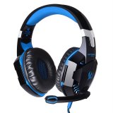 Jual Leegoal Each G2000 Professional Pc Laptop Over Ear Stereo Gaming Headphone Game Headset With Microphone Led Light Display Black And Blue Intl Online Di Tiongkok