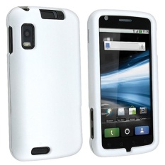 Leegoal Front and Back Protective Sheild Plastic Hard Case Coverfor Motorola Atrix 4G MB860 (White) - intl