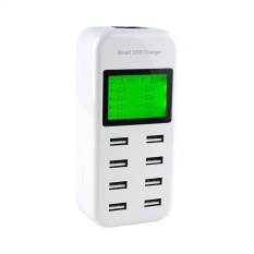 Diskon Leegoal Smart Usb Charger 40 W 8A 8 Port Desktop Multi Port Charging Station Dengan Lcd Intelligent Usb Charger Teknologi Deteksi Otomatis Display Untuk Iphone Htc Dan Perangkat Usb Intl