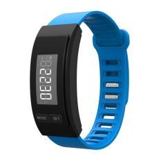 Harga Leegoal Smartband Jam Tangan Dengan Headset Earphone Pedometer Kebugaran Aktivitas Tracker Untuk Iphone Ios Android Smartphone Biru Yang Murah