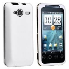 Leegoal Putih Karet Dilapisi Plastik Keras Tepi Depan dan Belakang Penutup Case untuk HTC EVO Shift 4G-Intl