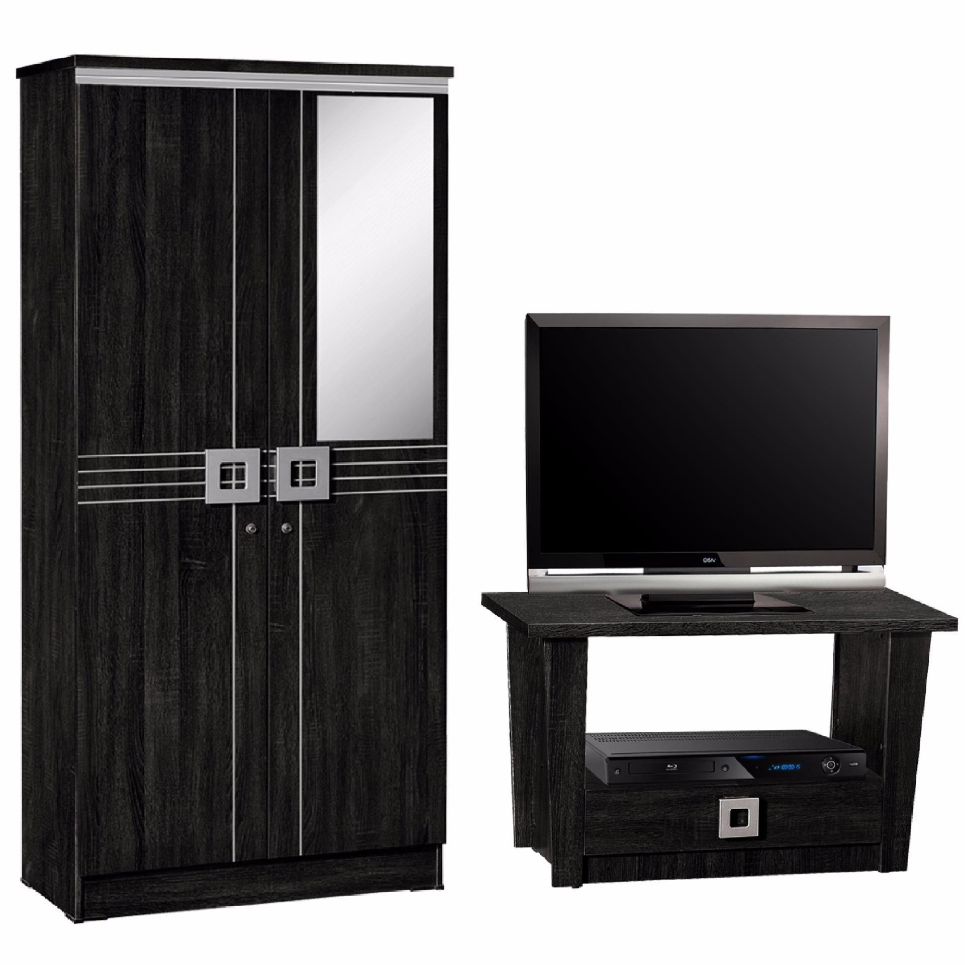 Lemari Pakaian dan Rak TV (Paket Mini)
