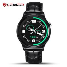 Beli Lemfo Gw01 Leather 1 33 Inch Kontrol Kamera Monitor Detak Jantung Smart Watch Cicil