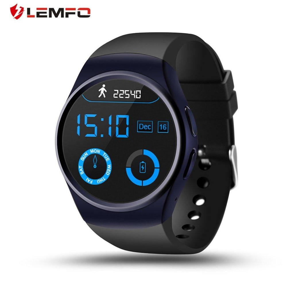 Promo Lemfo Lf18 1 3 Inch Display Round Shape Pedometer Analisis Tidur Smart Watch Blue Lemfo