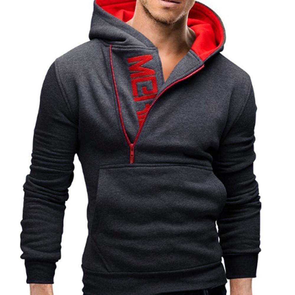 Lengan Panjang Pria Hoodie Hooded Sweatshirt Tops Jaket Mantel Lebih Tahan  DR-Intl cc124937a7