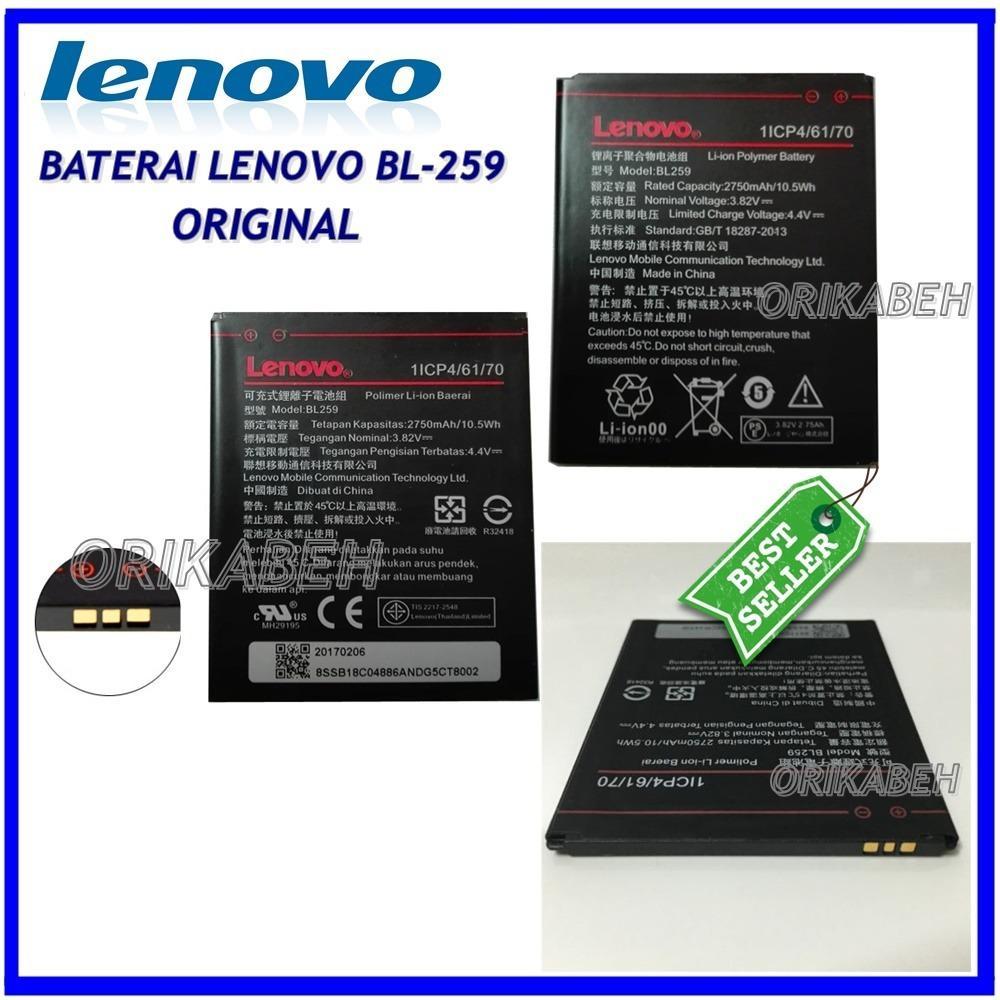 Jual Lenovo Baterai Battery Bl259 Original For Lenovo Vibe K5 Vibe K5 Plus Lemon 3 Kapasitas 2750Mah Orikabeh Termurah
