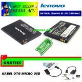Toko Jual Lenovo Baterai Battery Bl171 For Lenovo A390 A60 Kapasitas 1500Mah Gratis Kabel Otg Micro Usb
