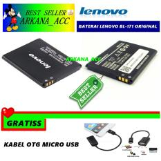Obral Lenovo Baterai Battery Bl171 For Lenovo A390 A60 Kapasitas 1500Mah Gratis Kabel Otg Micro Usb Murah