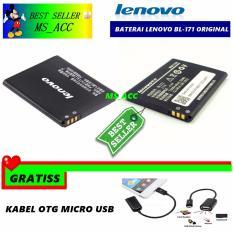 Lenovo Baterai / Battery BL171 For Lenovo A390 / A60 - Kapasitas 1500mAh + Gratis Kabel Otg Micro Usb