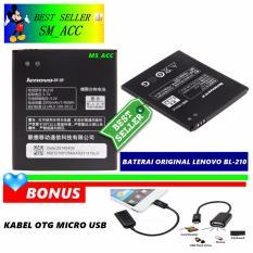 Promo Lenovo Baterai Battery Bl210 Original For Lenovo S820 Kapasitas 2000Mah Gratis Kabel Otg Micro Usb Lenovo