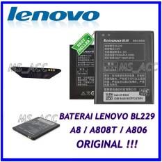 Lenovo Baterai / Battery BL229 Original For Lenovo A8 / A806 / A808T Kapasitas 2500mAh ( ms_acc )