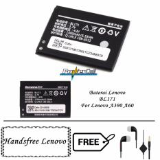Lenovo Beterai BL171 For Lenovo A390 / A60 + Gratis Lenovo Handsfree In Earphone - Hitam