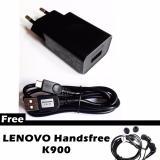 Lenovo C P53 Travel Charger 1 5A Original Free Lenovo Handsfree K900 Terbaru