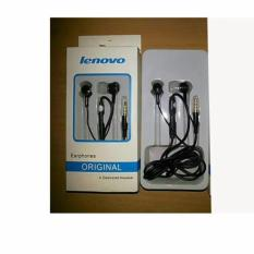 Harga Hemat Lenovo Headset Original Earphone Hitam