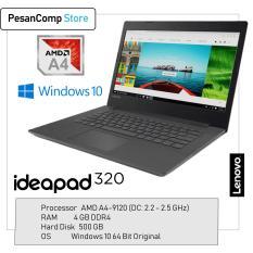 Lenovo IdeaPad 320-14AST AMD A4-9120 / AMD Radeon R3 / 4GB DDR4 / 500GB / WINDOWS ORIGINAL / 14 Inch / Slim Desain / Garansi Resmi Lenovo Indonesia