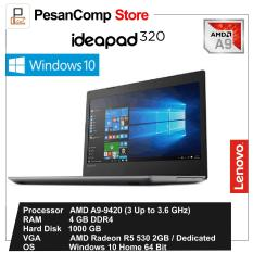 Lenovo IdeaPad 320 - AMD A9-9420/Windows 10/ AMD Radeon R5 M530 2GB / 1TB/ 4GB DDR4/ 14 Inch/ DVDRW/ Garansi Resmi Lenovo