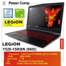 Lenovo Legion Y520 - 66ID Windows 10, RAM 6GB , GTX 1050 4GB, 1TB, 15'6 IPS FHD - Garansi Resmi 2 Tahun