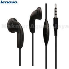 Lenovo Original Earphone - Handset - Handsfree Stereo With Jack 3,5MM - Hitam