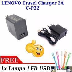 Lenovo Travel Charger 2A Non Pack C P32 Black Free 1X Lampu Led Usb Diskon Dki Jakarta