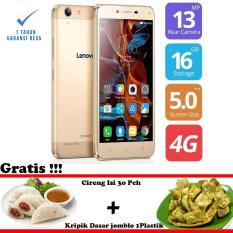 Lenovo Vibe K5 Plus - A6020 - RAM 3GB - 16GB ROM - Gold - Free Paket Oleh Oleh Bandung