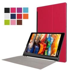 Lenovo YOGA Tab 3 Pro X90 Tiga Folding Auto Sleep/Wake Stand Leather Cover (Merah)-Intl