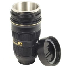 Lens Cup Replica Nikon AF-Snikkor 24-70mm F Zoom / Zoomable Thermos Camera Mug Lensa Stainless Steel