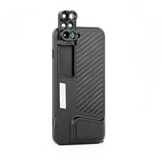 Lensa untuk Kasus iPhone 7 Plus, wmtgubu 6-Dalam-1 Ganda Optik Kamera Lensa Perlengkapan dengan Fisheye, Telephoto, Lebar-Sudut, makro dan Super Makro (Hitam)...-Internasional