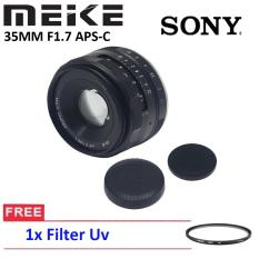 Lensa MEIKE 35MM F1.7 APS-C Lensa FOR Sony Mirrorless Free Filter UV
