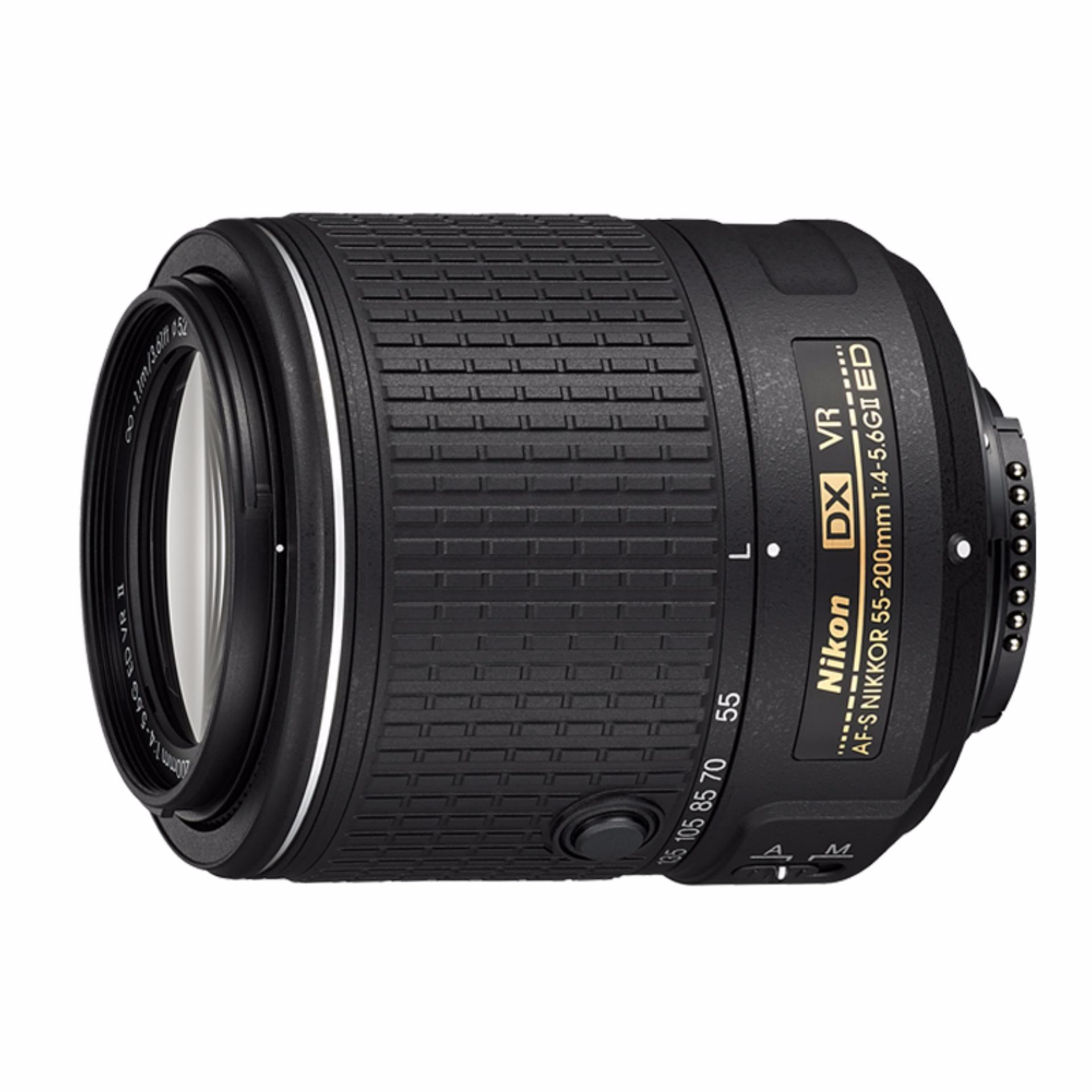 Lensa Nikon AF-S 55-200MM F/4-5.6G ED DX VR II - Hitam