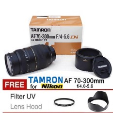 Lensa Tamron For NIkon AF 70-300MM F 4-5.6 MACRO DI LD Free Filter UV + Lens Hood