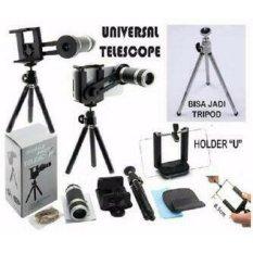 Lensa Telezoom 8x for Smartphone Include Tripod Mini