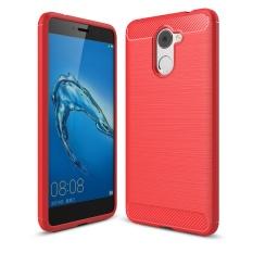 Toko Lenuo Anti Knock Carbon Fiber Silicone Brushed Cell Phone Back Cover Tpu Soft Case Untuk Huawei Y7 Prime Dan Nikmati 7 Plus Intl Lengkap Di Tiongkok