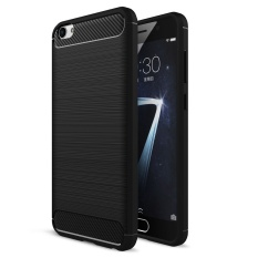 Lenuo Carbon Fiber Silicone Brushed Anti-knock cell phone Back Cover TPU Soft Case for vivo X7 Plus - intl