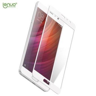 LENUO CF Carbon Fiber Tempered Glass Screen Full Cover untuk Xiaomi Redmi Pro-Putih-