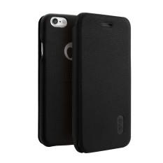 Lenuo untuk iPhone 6 & 6 S PU + Buah Lengkeng Tekstur Kulit Horisontal Lipat Case dengan Slot Kartu (hitam) -Internasional
