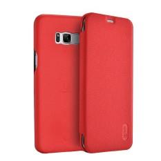 Lenuo untuk Samsung Galaksi S8 +/G955 PU + Buah Lengkeng Tekstur Kulit Horisontal Lipat Case (Merah) -Internasional