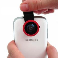 Jual Beli Lesung Universal Clip Lens Fisheye 3 In 1 180 Degree Fisheye Lens Super Wide Lens Macro Lens For Smartphone Lx U002 Merah