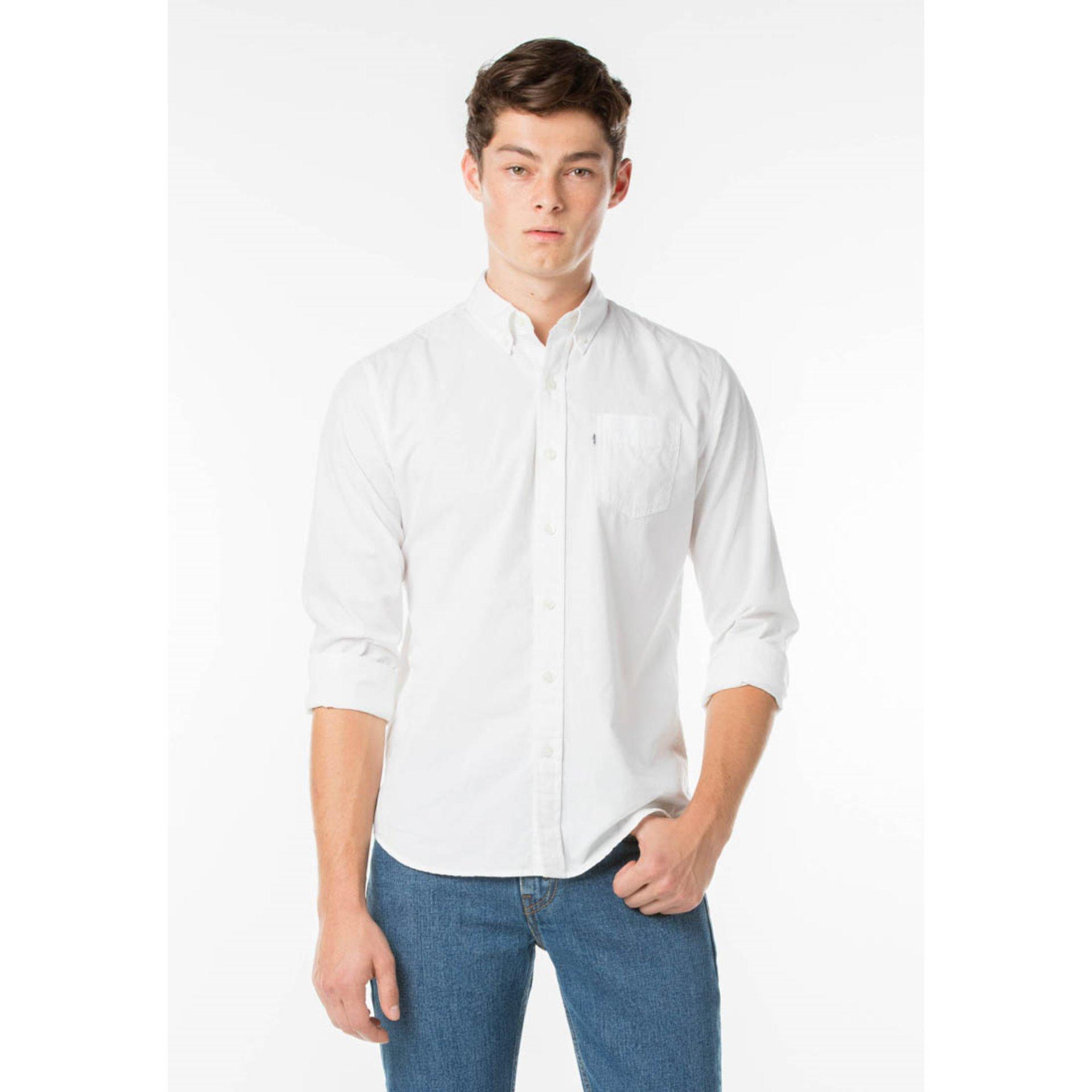Review Levi S Classic One Pocket Shirt White Levi S