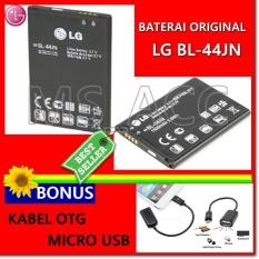 LG Baterai / Battery BL44JN Original For L5 / L3 / E400 / P970 / E612 - Kapasitas 1500mAh + Gratis Kabel Otg Micro Usb