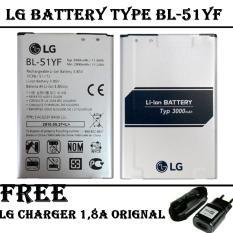 LG Baterai Type BL-51YF For LG G4 Original + FREE LG Travel Charger 1,8 A -Original