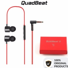 LG Earphone Quadphone 3 Original Produk - Merah Hitam