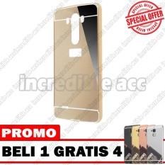 LG G3 Case Metal Bumper Mirror Beli 1 Gratis 4 Random Warna [BUY 1 GET 4] - Gold