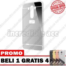 LG G4 Case Metal Bumper Mirror Beli 1 Gratis 4 Random Warna [BUY 1 GET 4] - Silver