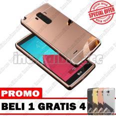 LG G4 Stylus Case Metal Bumper Mirror Beli 1 Gratis 4 Random Warna [BUY 1 GET 4] - Rose Gold