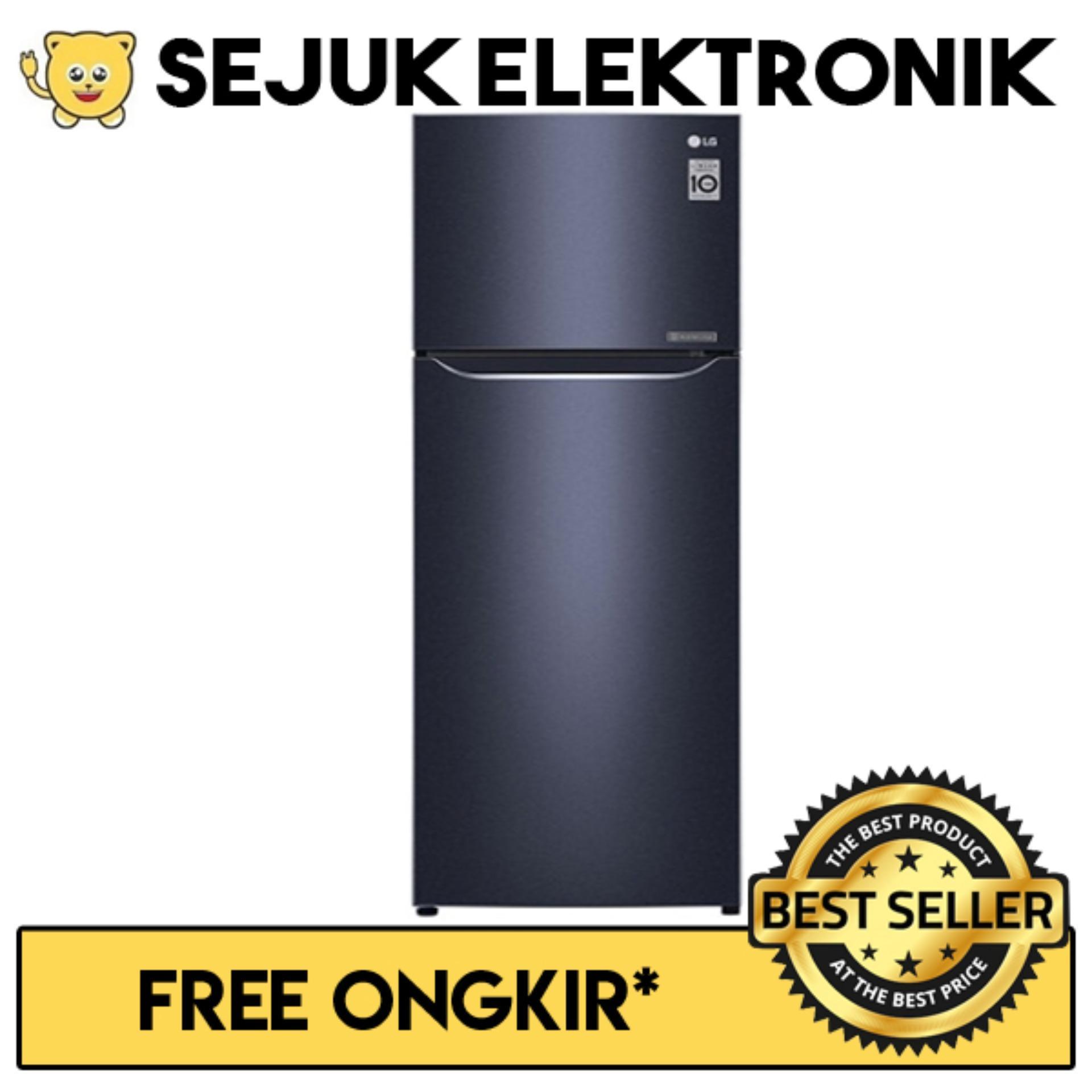 LG GN-C372SQCN Lemari Es / Kulkas 2 Pintu Door Cooling+™ - 333 Liter (JADETABEK ONLY)