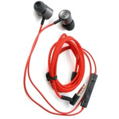Jual Lg Handsfree Headset Quadbeat 3 In Ear Premium Merah Hitam Branded Murah