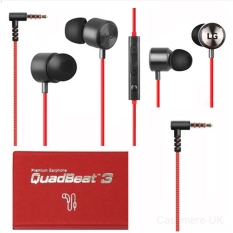LG Handsfree  Premium Earphone Quadbeat Le630 - Merah